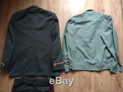 Vintage Ukraine General Pants Shirt Tie AP Hat Uniform Jacket Military