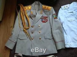 Vintage Ukraine General lieutenant Pants Shirt AP Hat Uniform Jacket Military