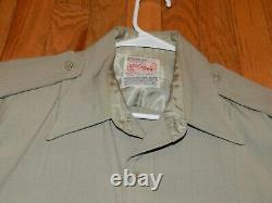 Vintage Us Air Force. 1950's Era, Tan Dress, Uniform, 2 Shirt 1 Pant, Xnice