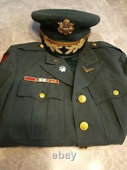 Vintage Vietnam War Era U. S. Army Uniform coat shirt pants hat tie belt pins
