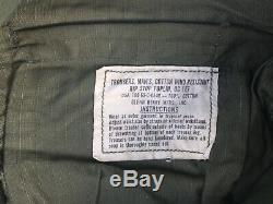 Vintage Vietnam jungle fatigue shirt and pants rip stop poplin OG 107 od green