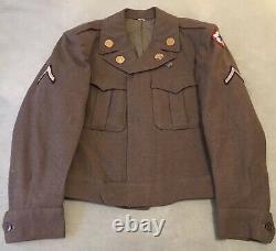 Vintage WW II US Army Wool Uniform, Ike Jacket/Shirt/Pants, Olive Green