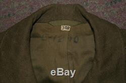 Vintage WW2 Ike Jacket Uniform with Matching Shirt & Pants ETO Overseas Bars MUC
