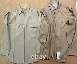 Vintage WW2 WWII 1940's US Army Wool'Ike' Military Jacket, Pant, Shirt and Hats