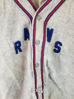 Vintage Wool Baseball Uniform Shirt Pants Rams 40s 50s 60s Marshall Gamemaster