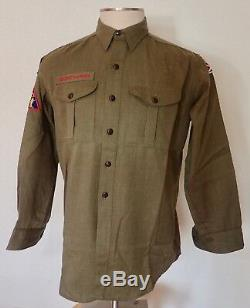 Vintage Wool Boy Scout Uniform Shirt and Pants Army Green St Louis DM0497