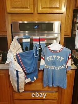 Vintage richard petty softball sign Uniform Shirt pants before enterprise rare