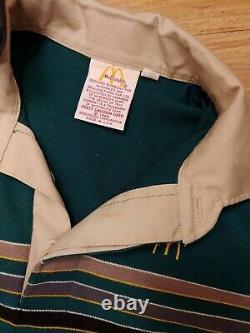 Vtg 1986 Original ladies McDonald's Uniform Shirt Pants Visor Hat sz S