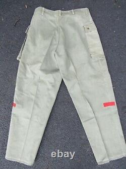 Vtg 40s WWII P44 Set USMC Stenciled Shirt & Monkey Pants HBT Named ID WW2 Jacket