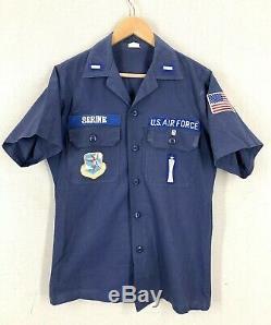 Vtg 60s 70s USAF Airforce Missileman SAC Missile Crew Blue Combat Shirt + Pants