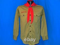 Vtg 60s BSA BOY SCOUTS OLIVE GREEN UNIFORM SHIRT PANTS NECKERCHIEF SET SMALL
