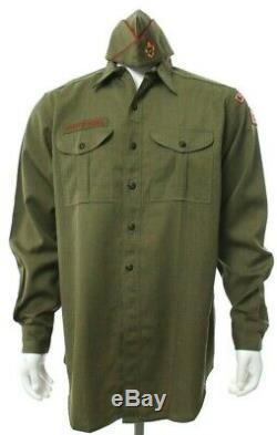 Vtg Boy Scouts America Uniform Green 3 Piece Shirt Pants Hat Pacific Palisades