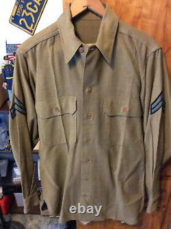 Vtg WWII 1940s USAAF Wool Jacket, Dress Pants, Shirt and Tie