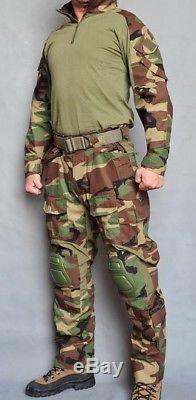 WARARMOR ALLWIN USMC MARSOC US M81 Woodland Camo Combat Shirt Pants Elbow Knee