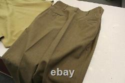 WW II 12th Armored Tank Division Army Staff Sargent Uniform Shirt And Pants 1945