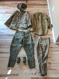 WW1 GROUPING 41st Infantry Division WW I Uniform Hat Shirt Pants 1917-1918