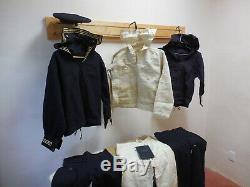 WW1 US Navy Sailor Wool Uniform Set Cracker Jack Shirt/Pants/Hat/Deck Book 1918