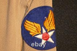 WW2 AAF Army Air Force 1st Lieutenant Shirt & Pants Pilot Wing 2 Sterling Named