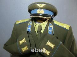 WW2 Air Force Set of Russian Parade Uniform Tunic Cap Pants Shoes Belt Shirt Tie