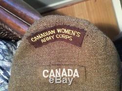 WW2 Canadian CWAC UNIFORM JACKET PANTS SHIRT SUSPENDERS AND TIE