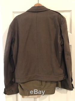 WW2 US 7th Army Uniform, IKE Jacket, Pants, Ribbon Bars, Patches w shirt