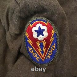 WW2 US ARMY UNIFORM Ike JACKET PANT SHIRT EUROPEAN THEATER RIBBON BAR