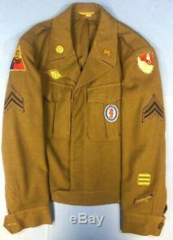 WW2, US Army, 10th Armored Div. /36th Engr. Bn, Uniform, Ike Jacket, Pants, & Shirt