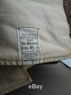 WW2 US Army 11th Airborne Division Glider Infantry Ike Jacket with shirts & pants