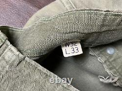 WW2 US Army 13 Stars Buttons HBT Type 2 Combat Shirt and Cargo pants