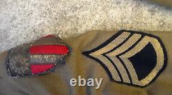 WW2 US Army Air Forces C. B. I. Medical Dress Uniform Jacket & Shirt & Pants USED