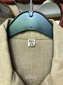 WW2 US Army Wool Dress Uniform Set Jacket Pants Shirt Cap Suspenders W Pac MUC