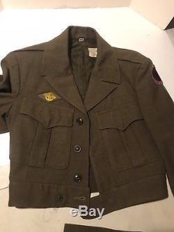 WW2 WWII US Army 9th Corps Dress Field Wool Jacket Uniform Shirt Pants 1940s 38R