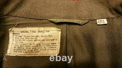 WWII 12th Armored Division Ike Jacket with shirt, pants, belt, tie, cap Size 42R
