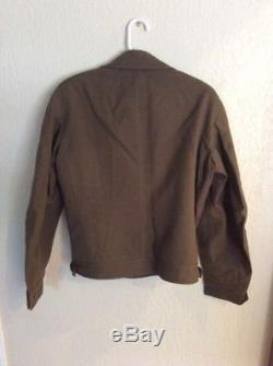 WWII 9th ARMY 4th ARMORMED DIVISION IKE JACKET, SHIRT, PANTS HAT EUC