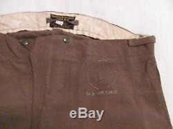 WWII AAF flight suit wool inner flying trousers Type E-1 pants, heavy A-1 shirt