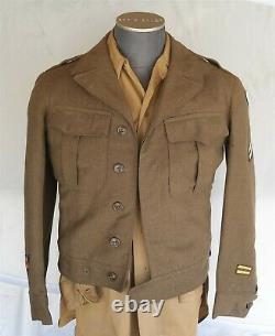 WWII Army Air Force Uniform Shirt Jacket Hat & Pants With Patches Nice