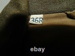 WWII Army Field Uniform-Cap, Ike Jacket, Khaki shirt, Olive pants withinsignia