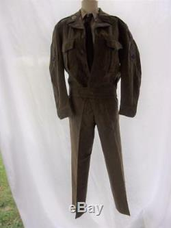 WWII Complete Uniform Ike Jacket Pants Shirt Tie Cap $375.95