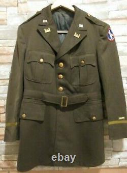 WWII Grouping Brig General John Hewitt 2 Tunics, Ike Jacket, Shirt, 3 pair Pants