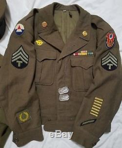 WWII Jacket, Trench Coat, Shirt, Pants, Hats, Ties, Bags, Dog Tags