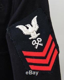 WWII Men's NAVY Crackerjack Shipboard Uniform Small Sailor Shirt 32x31 Pants USN