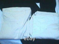 WWII NAVY UNIFORM UNIFORM SET Lot DRESS Blue CRACKERJACK Hat WHITE Shirt PANTS 1