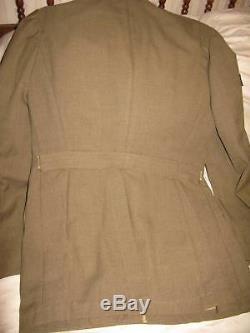 WWII US Army Dress Wool Uniform Jacket Cap Shirt Pants Belt Superb Condition