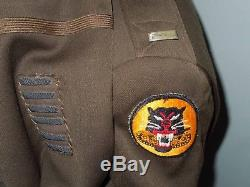 WWII US Army TANK DESTROYER Officer's NAMED Uniform Group Artillery Shirt Pants