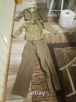 WWII Uniform Ike Jacket, Pants, shirt- WW2 World War II