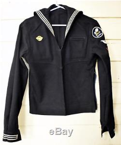 WWII WW2 US Navy SeaBees Petty Officer 1st Class Uniform Shirt Pants Neckerchief