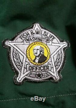 Washington State Fish Wildlife Uniform Officer Patches suit shirt pants fishing