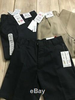 Wholesale Lot 150 School Uniform Pants Shirts Shorts Boys Girls Navy/white/khaki