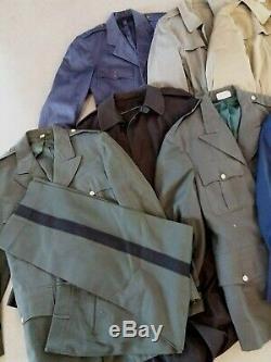 Wholesale Lot 17 Vintage Military Uniform Jacket Shirt Pants Trench Tunic 60s-90