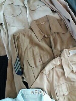 Wholesale Lot 30 Vintage Military Uniform Jacket Shirt Pants Trench Tunic 40s-90
